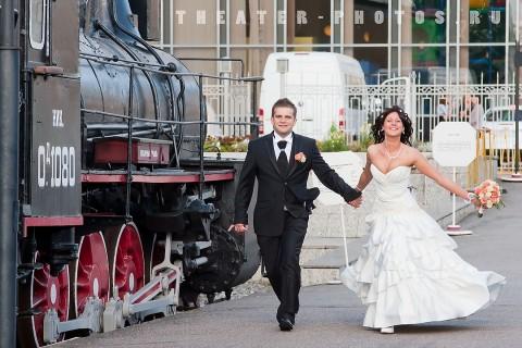 картинка свадебный паровоз них
