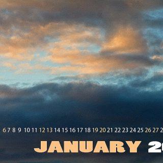 январь в облаках