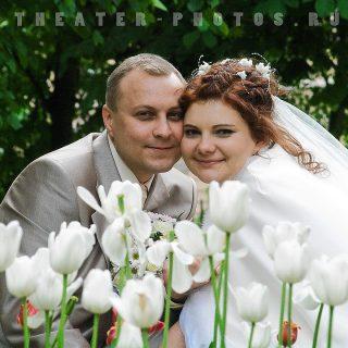 свадьба и белые тюльпаны