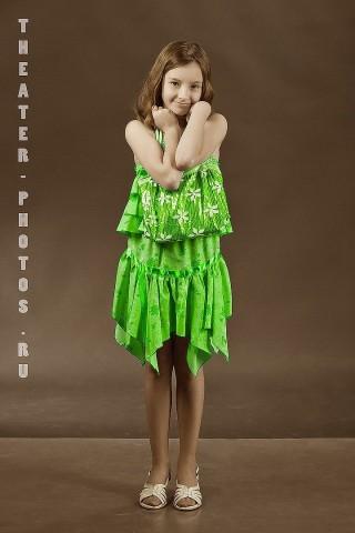 радуга в студии зеленного цвета