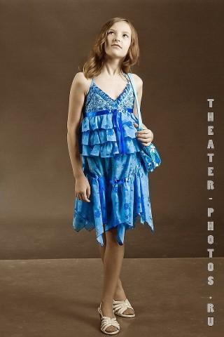 голубой наряд