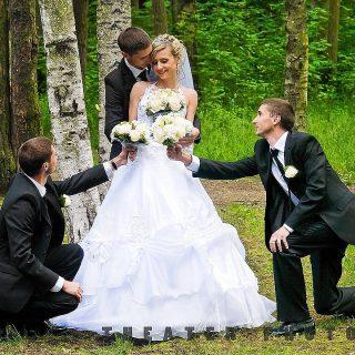 фото монтаж на свадьбе