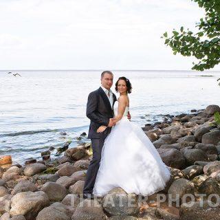 финский залив, камни, фото свадьбы
