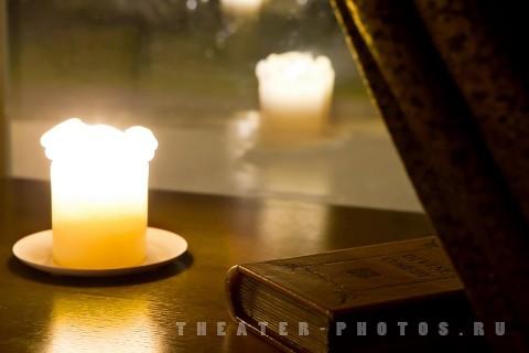 свеча в интерьере