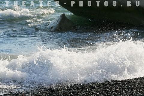 пляж и брызги